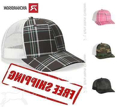 patterned snapback trucker cap hat 112p mid
