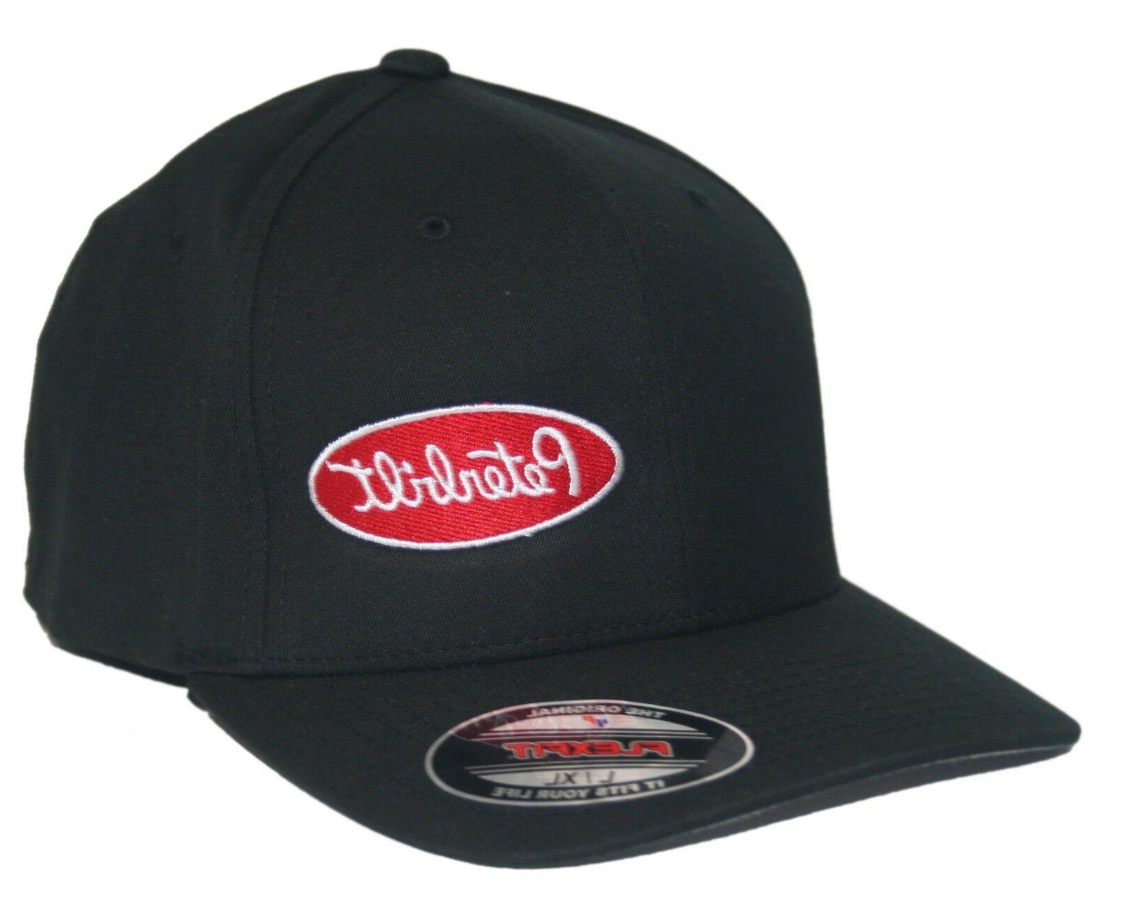peterbilt hat cap fitted curved bill trucker