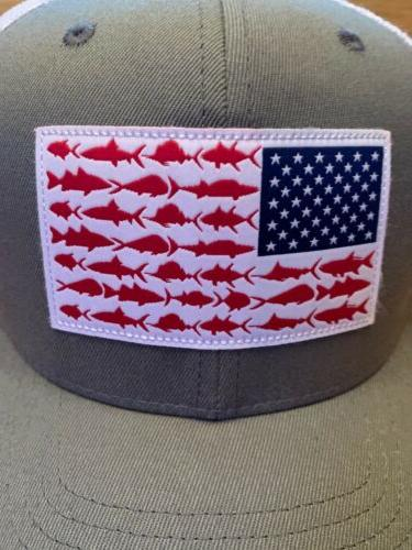 Columbia Mesh Hat Cap Titanium Fish Flag Trucker- Sixe