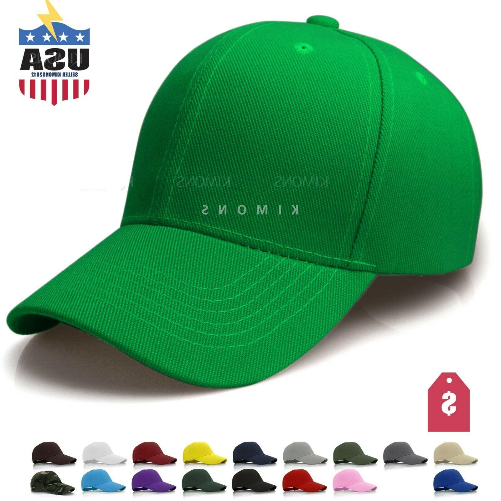 Plain Solid Baseball Cap Trucker  Army Blank Color Hat Ball
