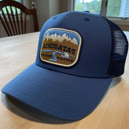 Patagonia Pointed West Trucker Hat New Tags - Glass Blue - Fall