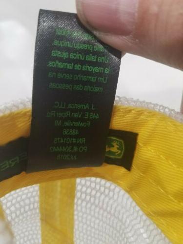 JOHN QUALITY FARM EQUIPMENT PATCH TRUCKER CAP NICE
