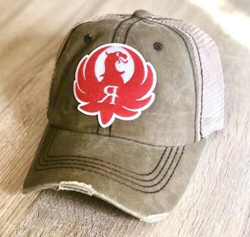 ruger logo trucker hat pro gun embroidered