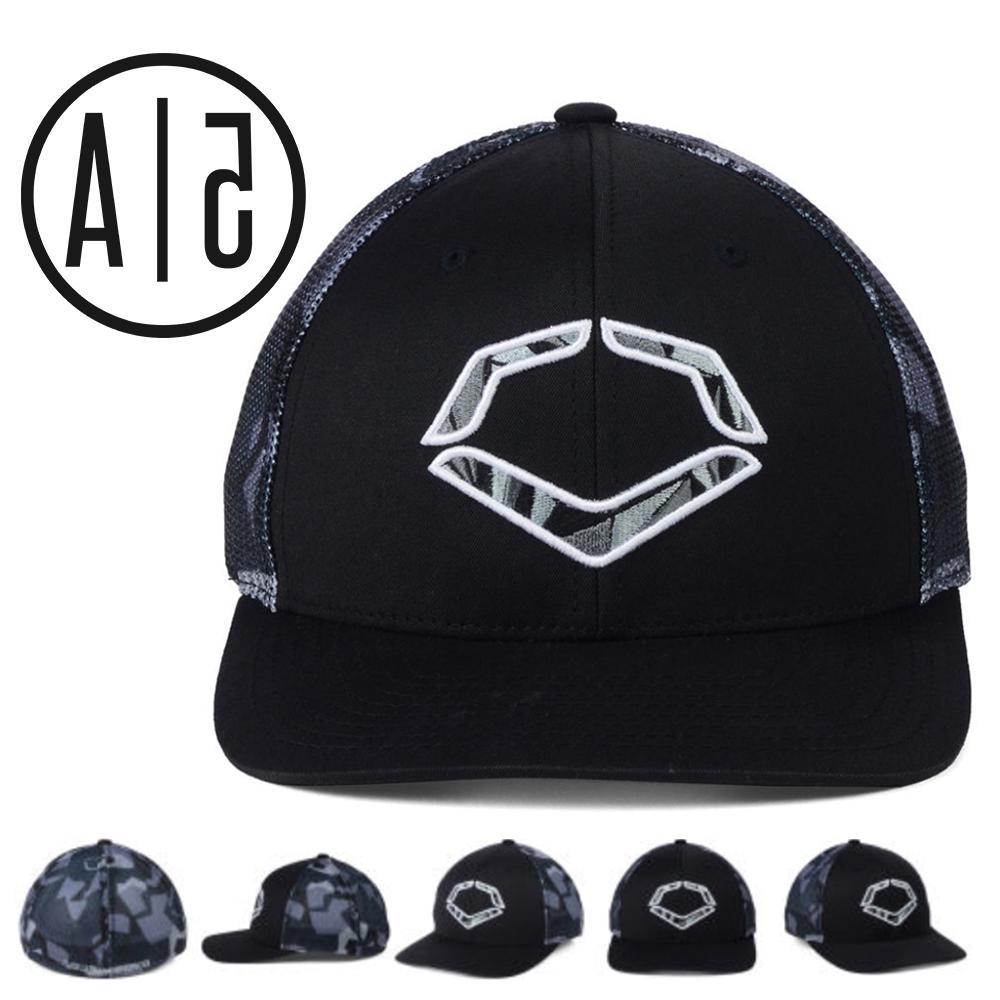 EvoShield Shrapnel Meshflex Black/Gray Baseball Cap Camo Tru