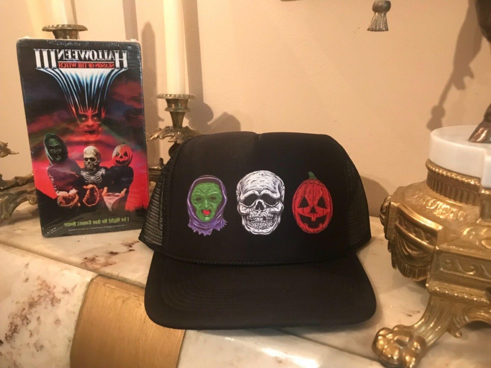 Silver Halloween 3 Custom trucker Hat New vhs Horror