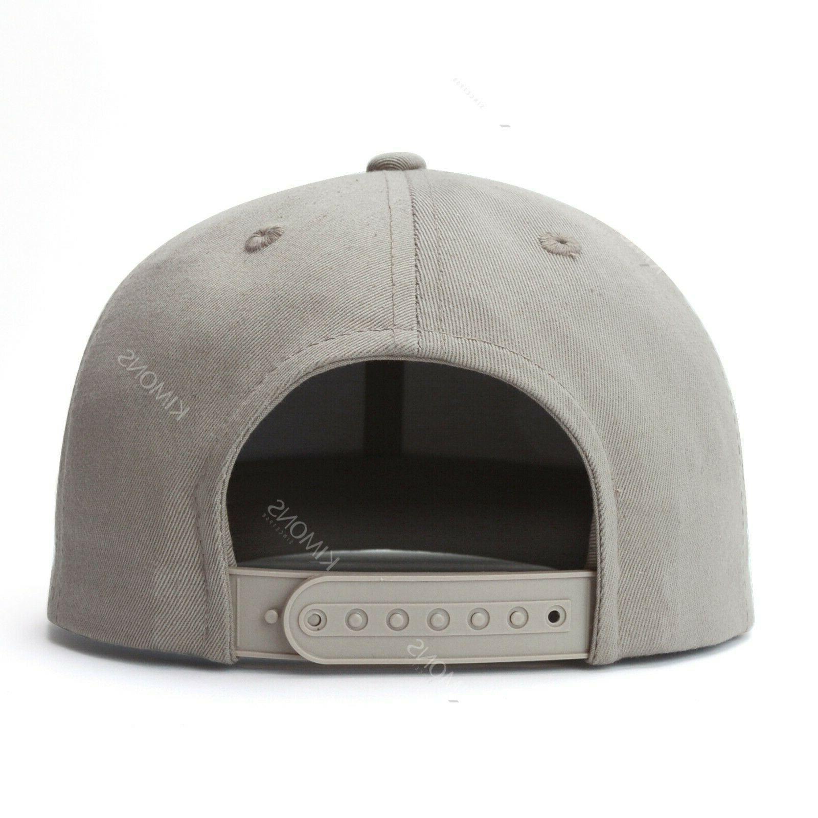Snapback Hat Cap Trucker Solid Plain Blank Adjustable