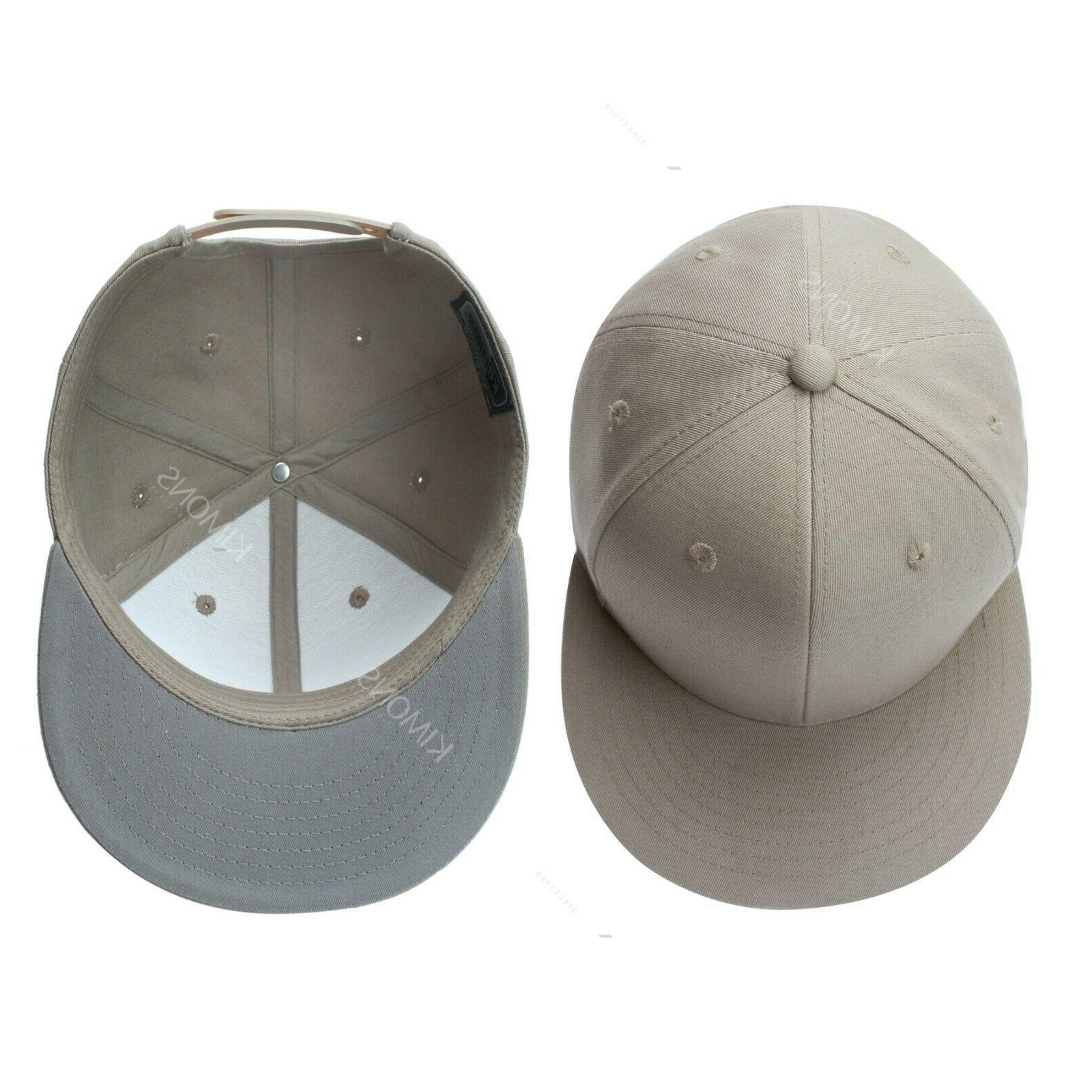 Snapback Flat Cap Adjustable