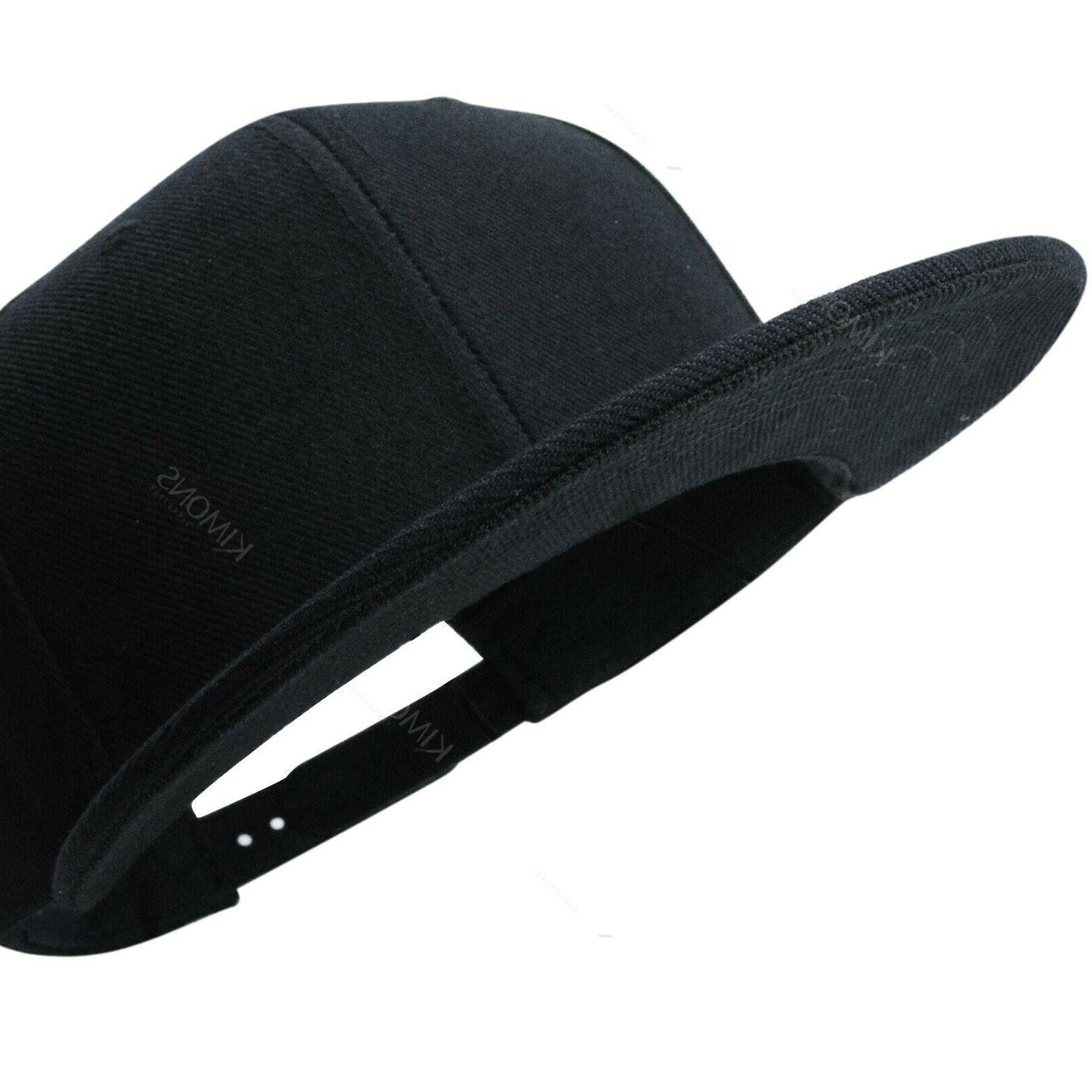 Snapback Hat Flat Cap Blank Hop Adjustable