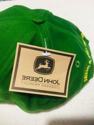 John Deere Snapback Trucker Cap w/ tags Great Condition!
