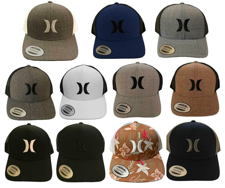HURLEY SNAPBACK YUPOONG Icon QT Trucker Mesh Hat Cap