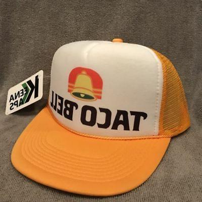 taco bell trucker hat restaurant employee vintage