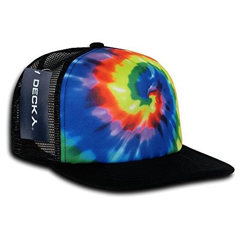 tie dye print trucker cap