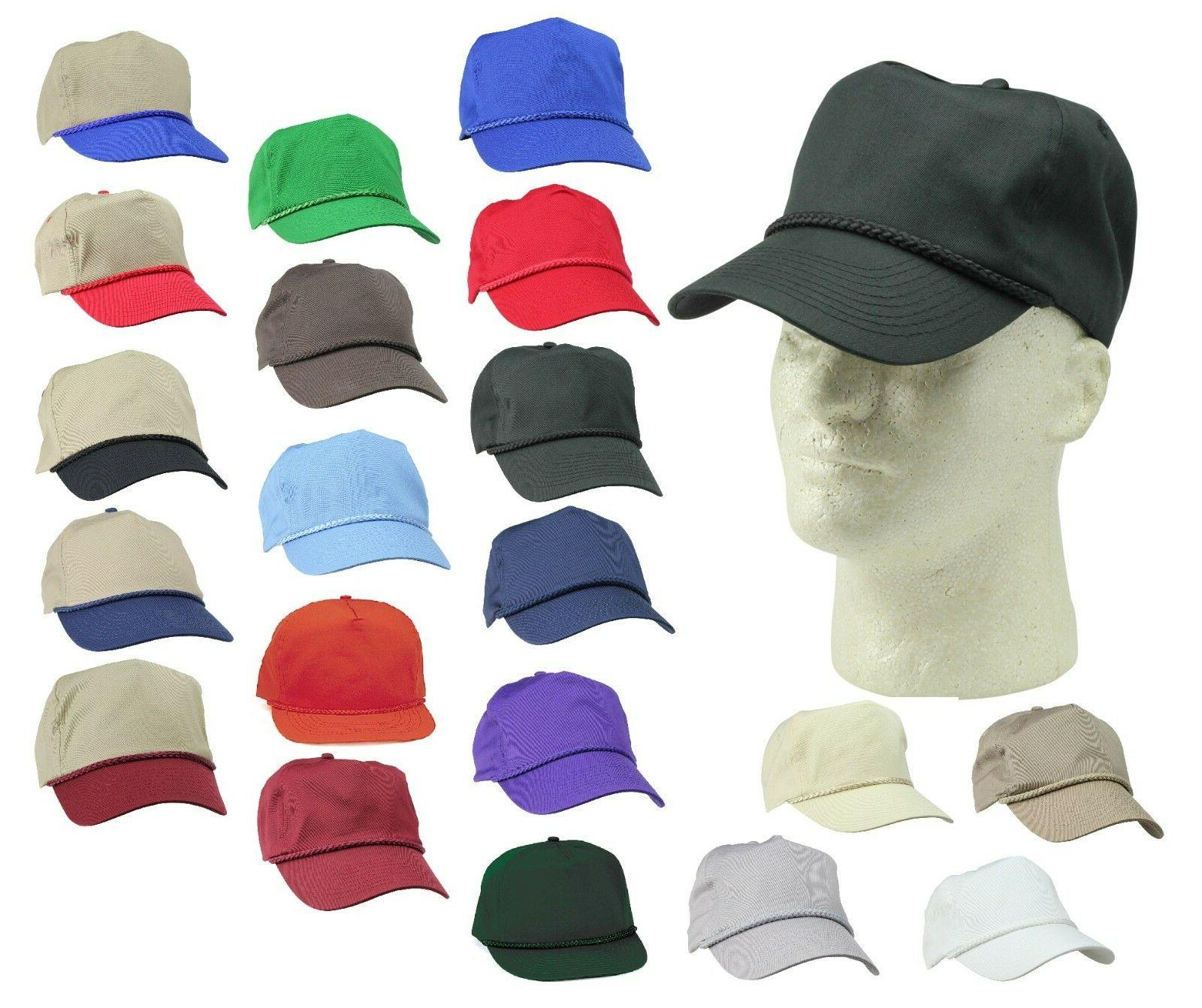 trucker baseball caps braid snapback hats hat