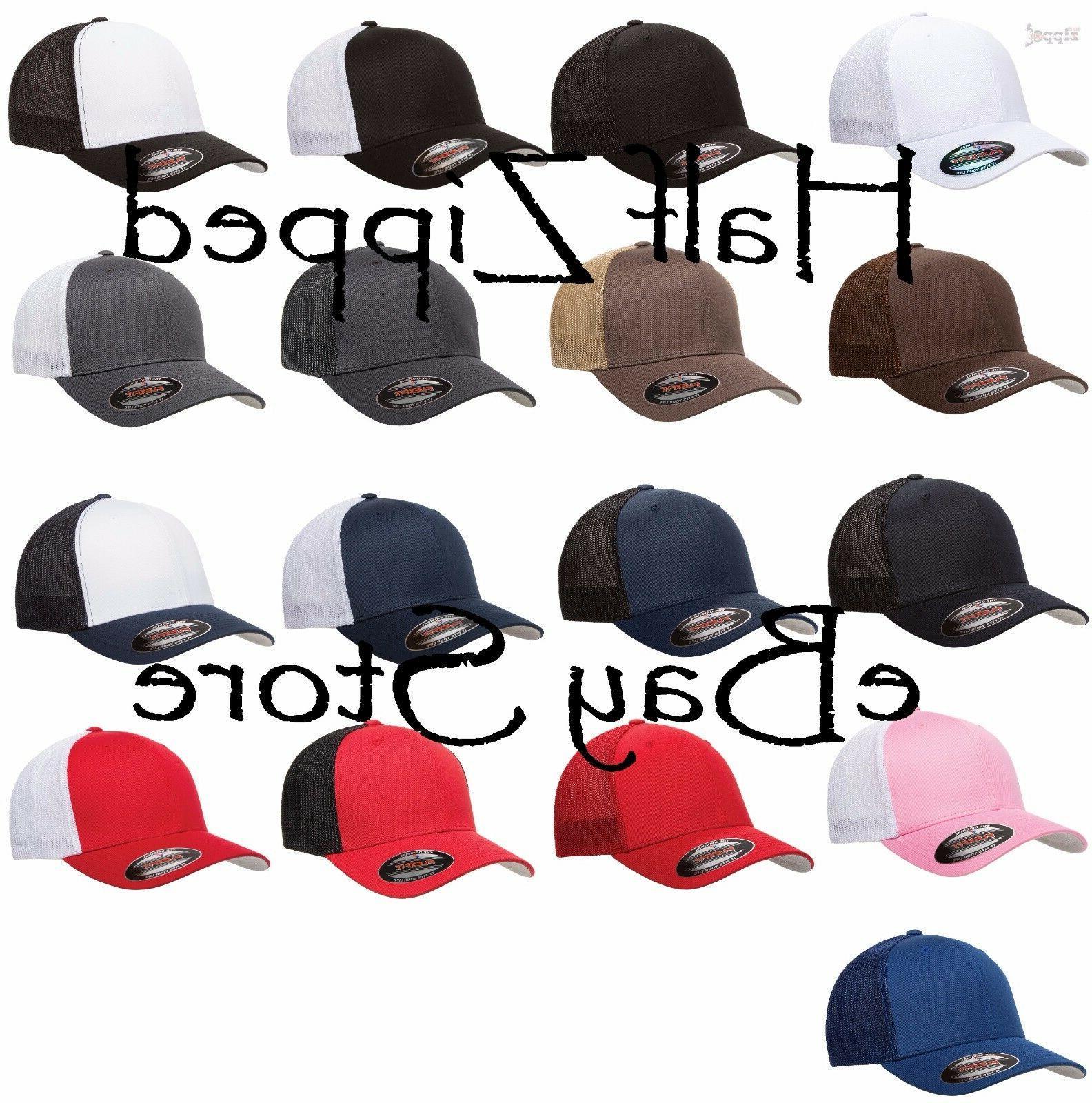 Flexfit Trucker Cap Fitted Mesh Hat One - 33