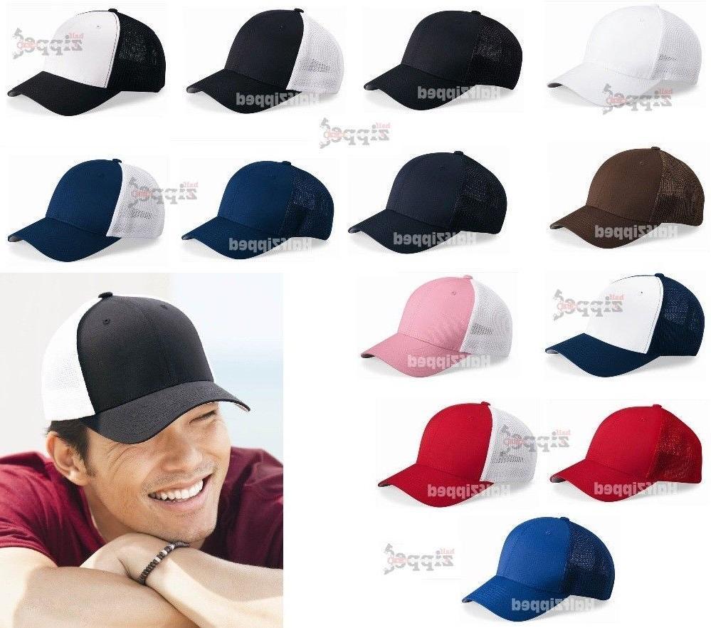 Flexfit Trucker Cap Fitted Mesh Hat 6511 Baseball