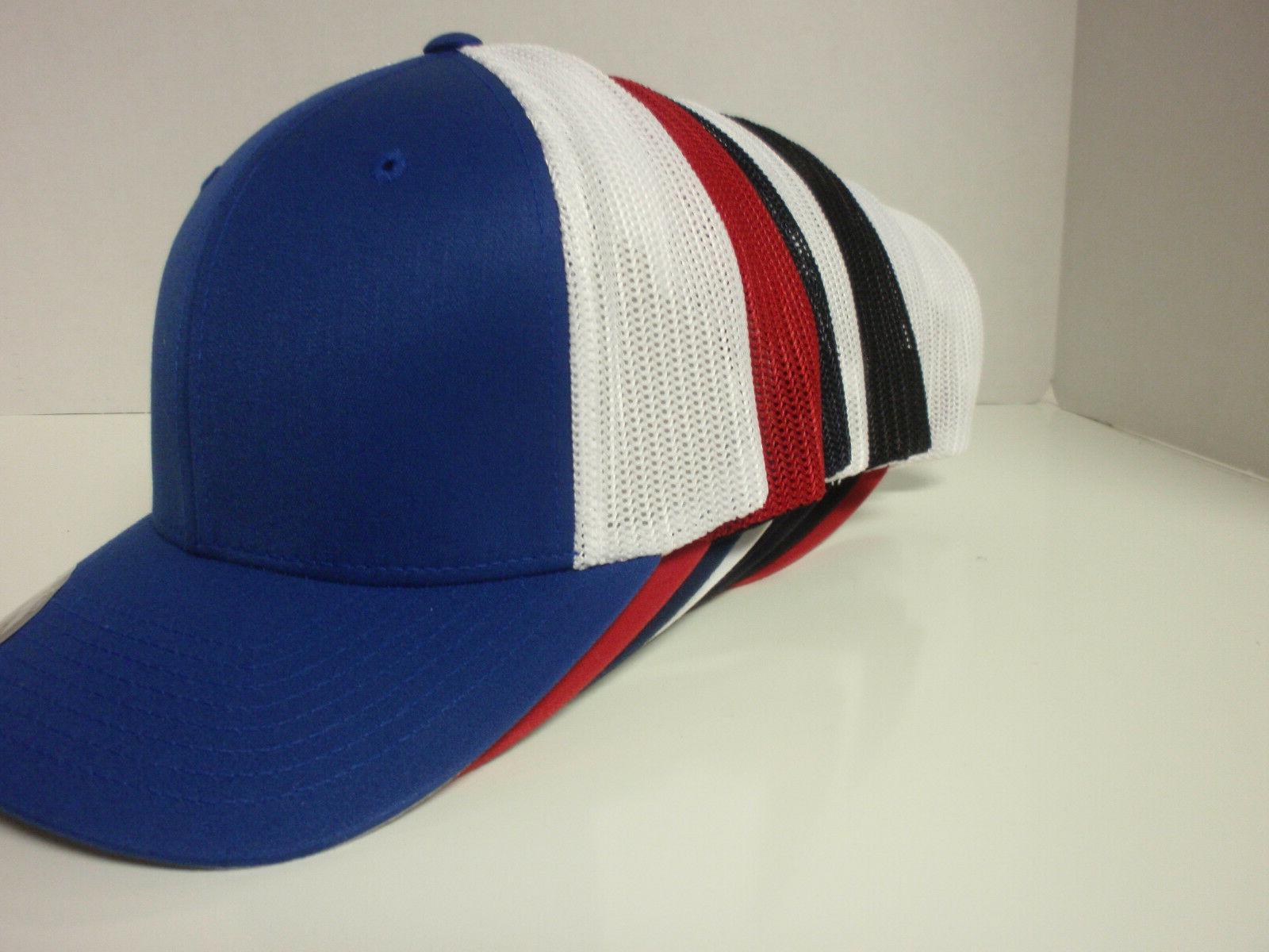 TRUCKER MESH CAP PLAIN BASEBALL FLEX CURVED 6511