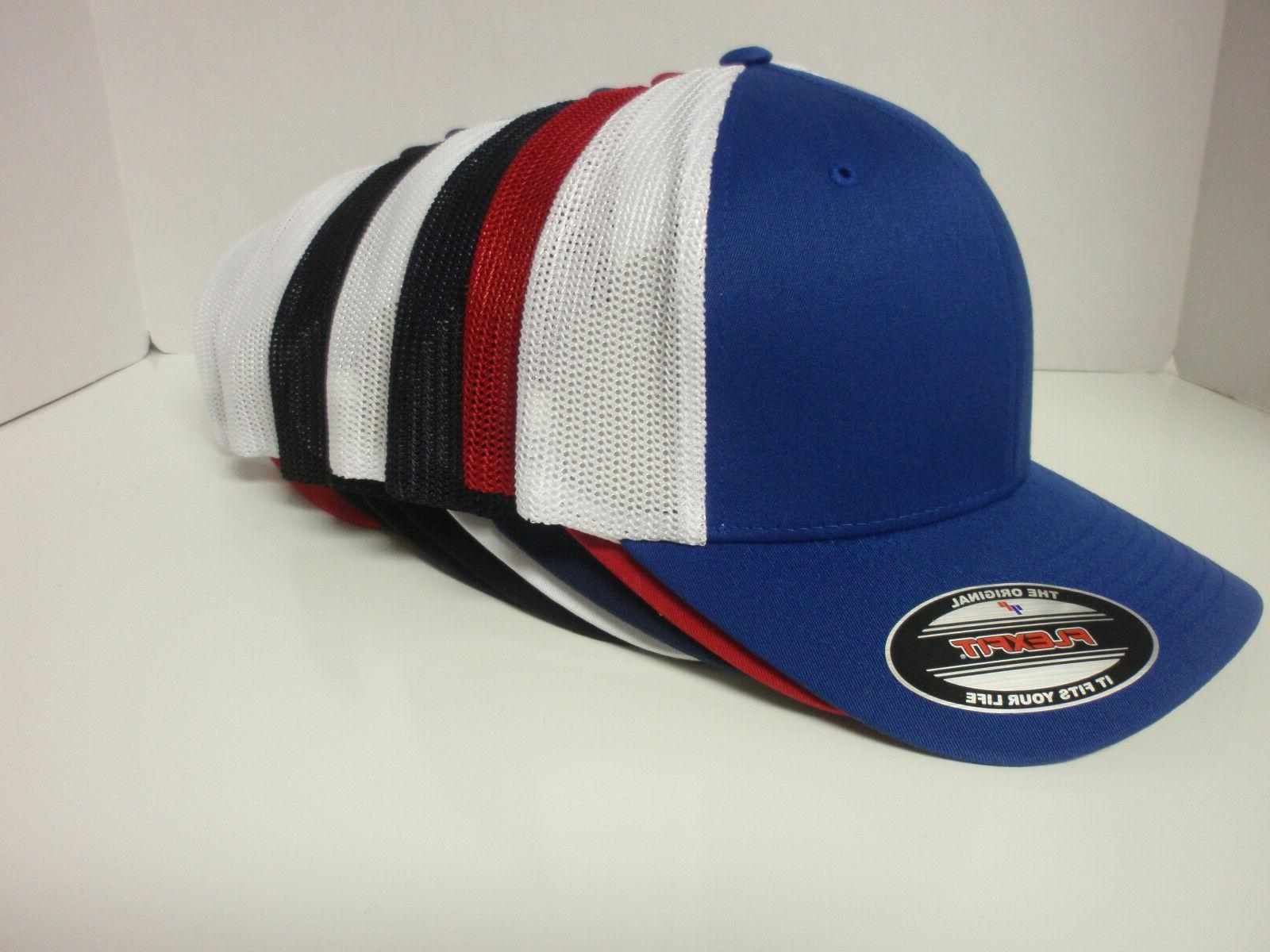 1b95f520aafaa TRUCKER FLEXFIT MESH CAP PLAIN BLANK BASEBALL HAT