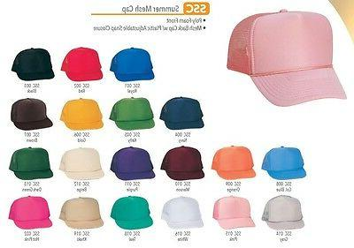 Trucker Hat Mesh Retro Blank Plain Hats Youth's Caps