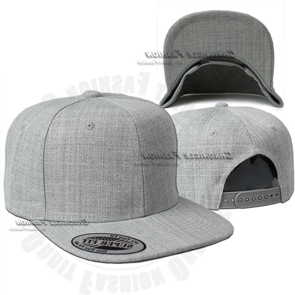 Trucker Baseball Mesh Back Cap Snapback Solid Plain