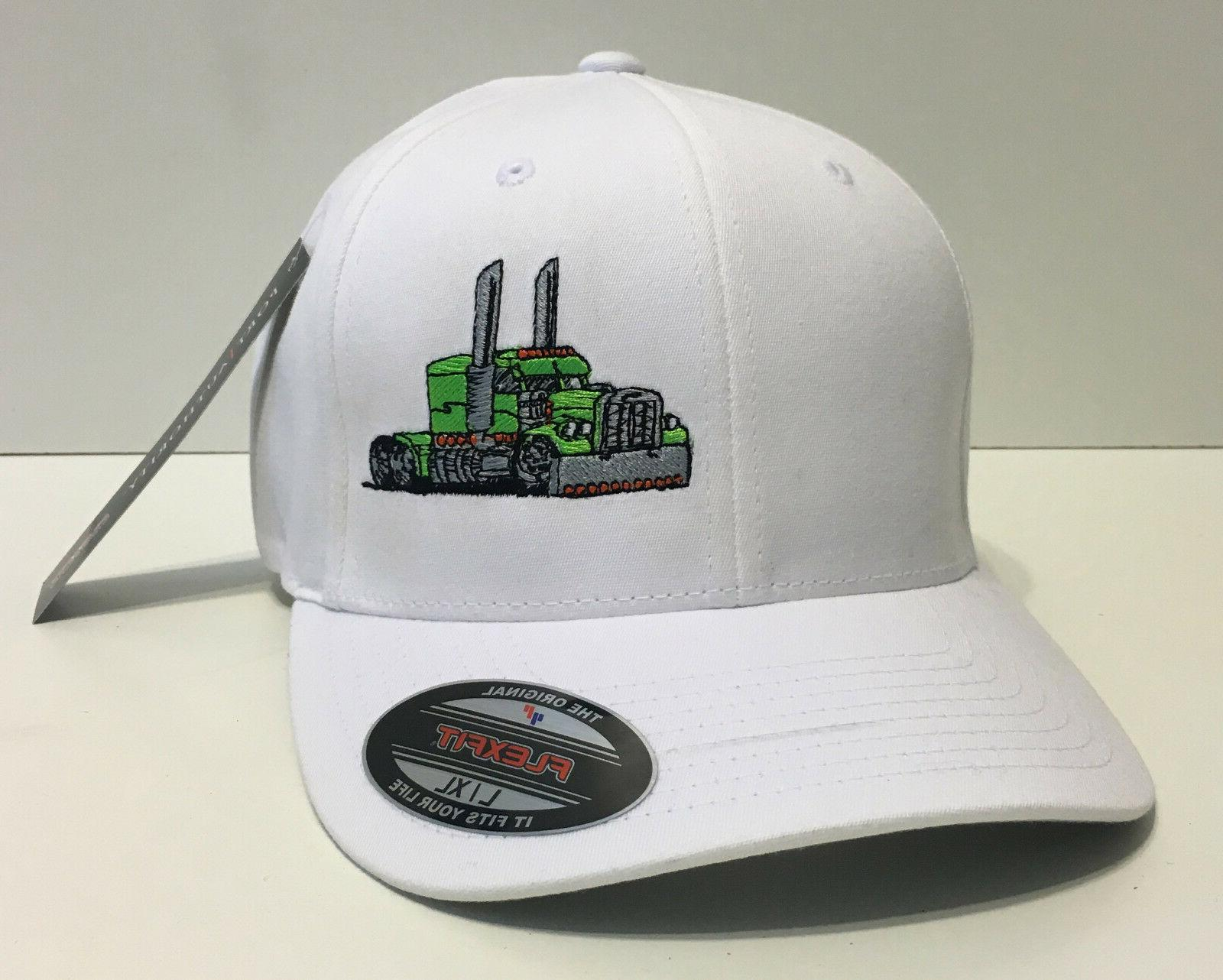 trucker hat fitted cap big rig truck