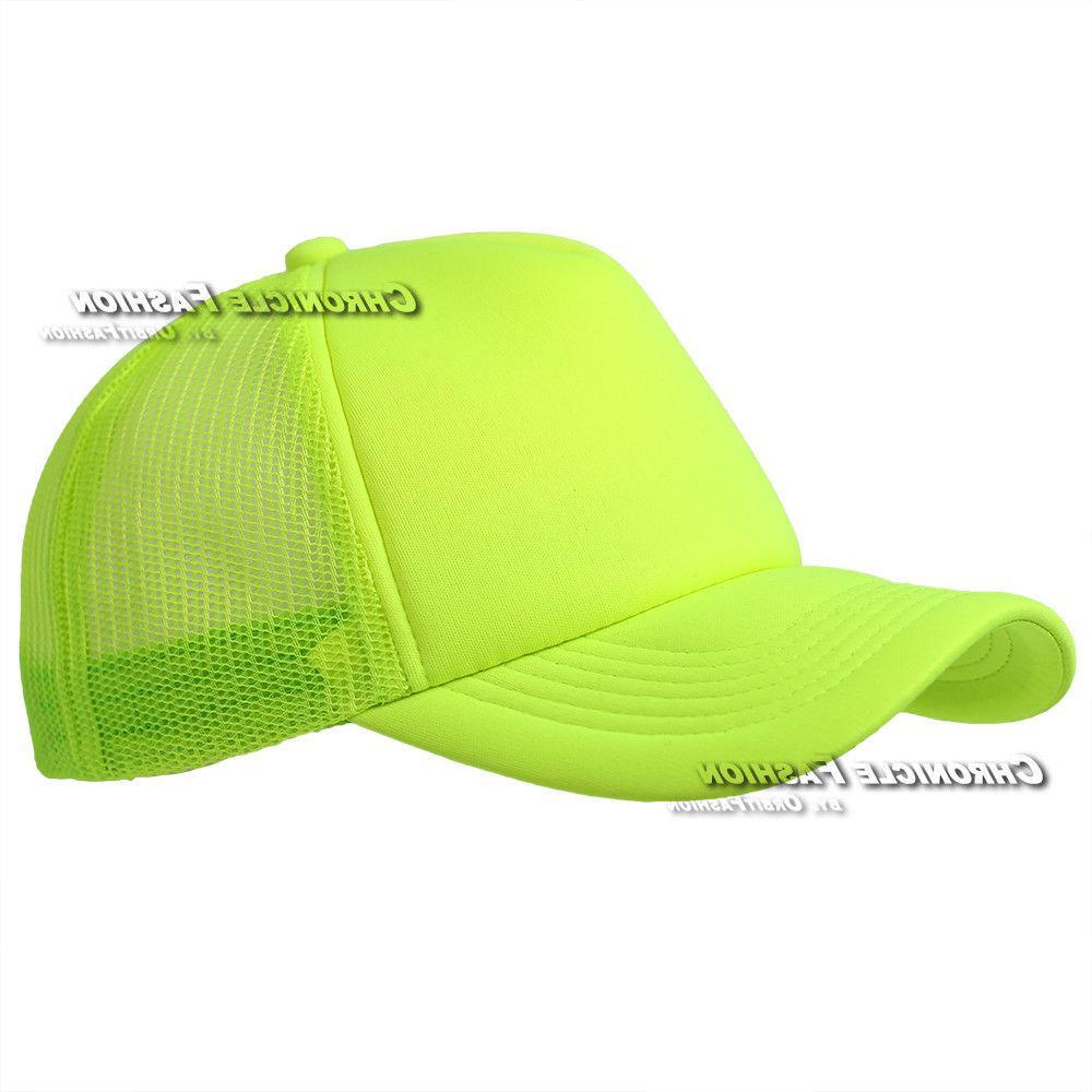 Trucker Hat Foam Mesh back Baseball Solid Cap Summer Snapback Adjustable Hats