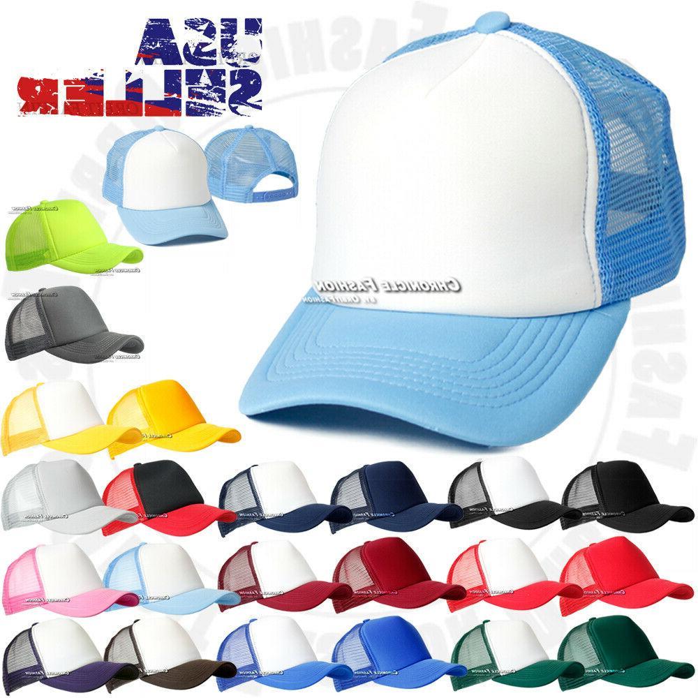 trucker hat foam front mesh baseball cap