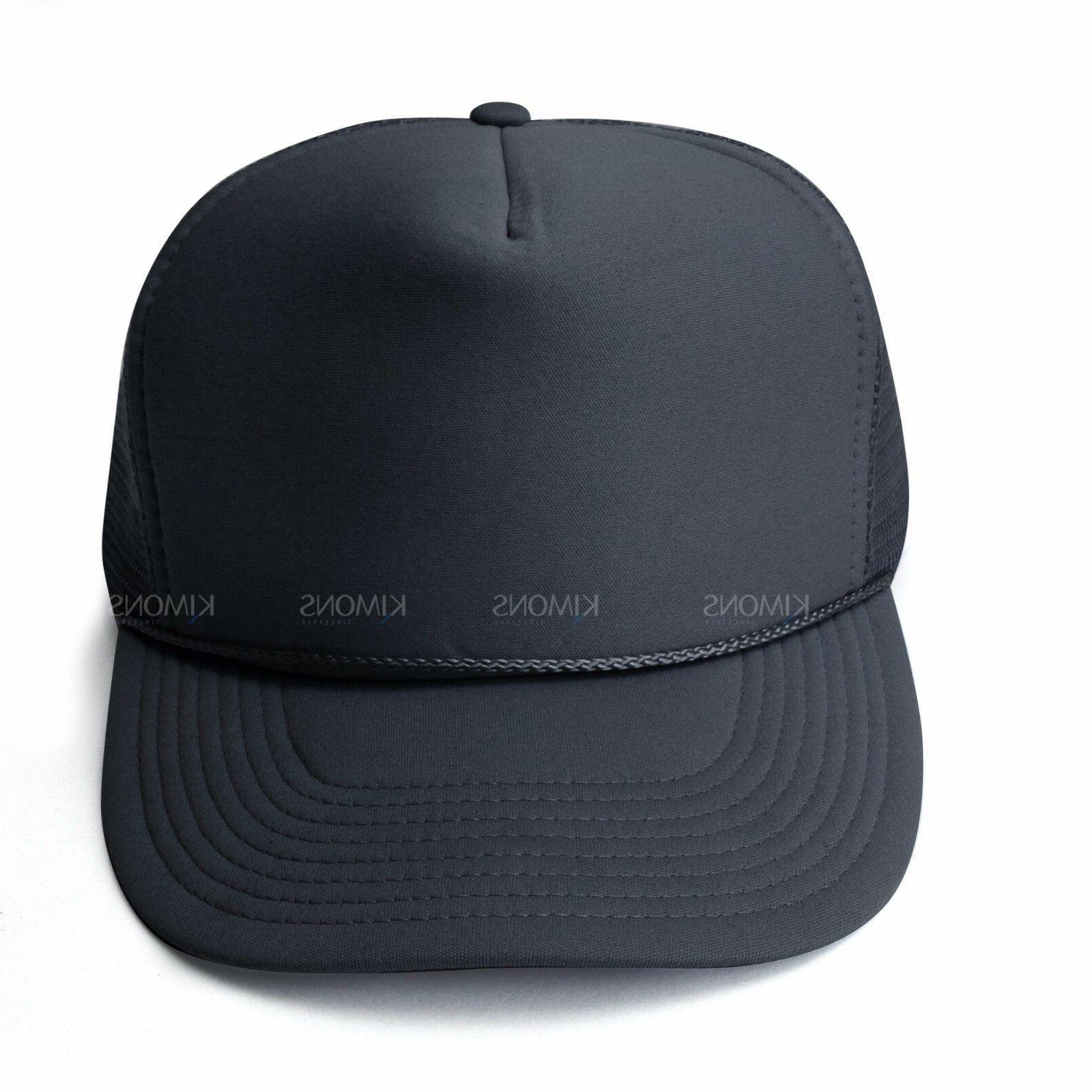 Trucker Hat Baseball Cap Adjustable Solid Hats Flat