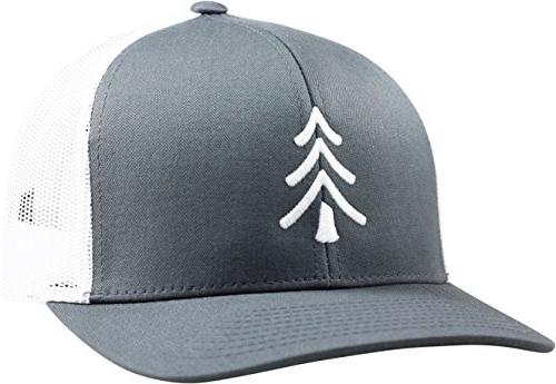 trucker hat pine tree graphite white