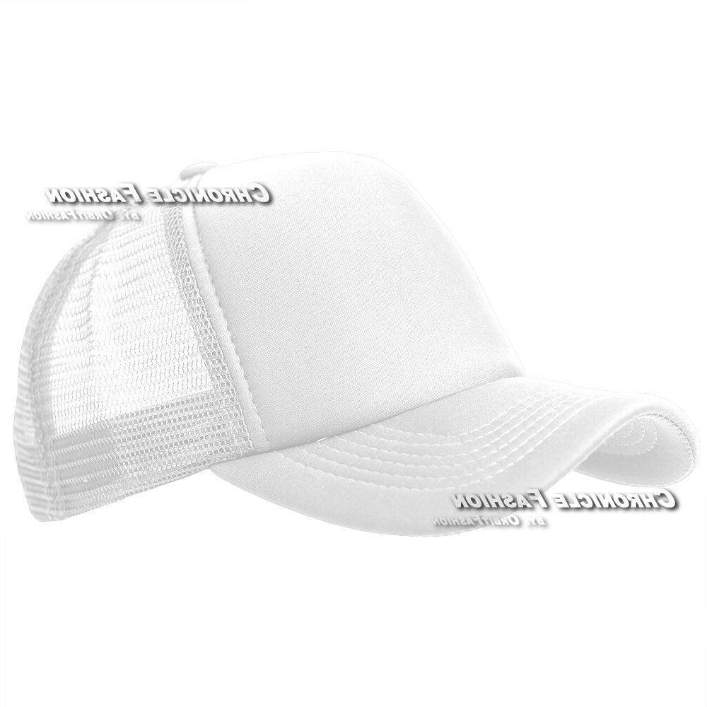 Trucker Meshback Baseball Cap Solid