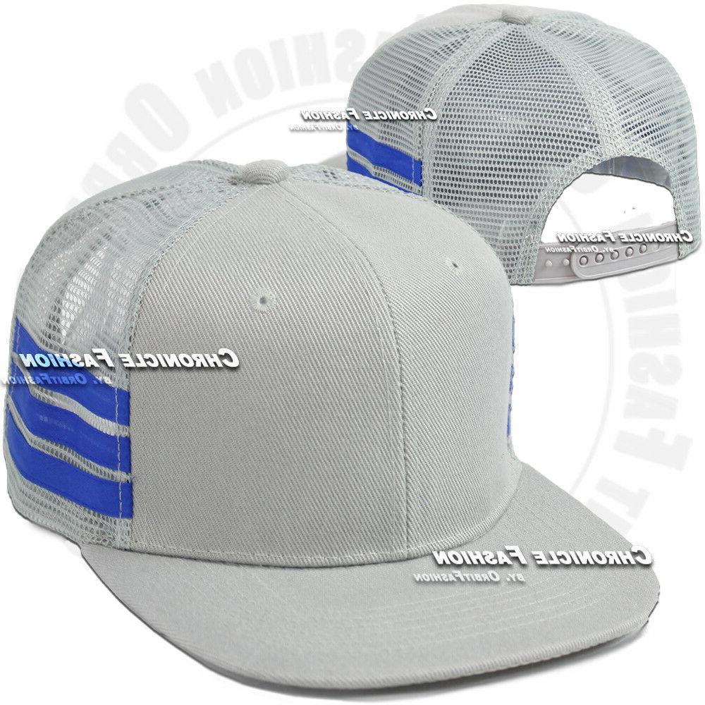 Trucker Mesh Cap Snapback Hop Plain Solid Mens