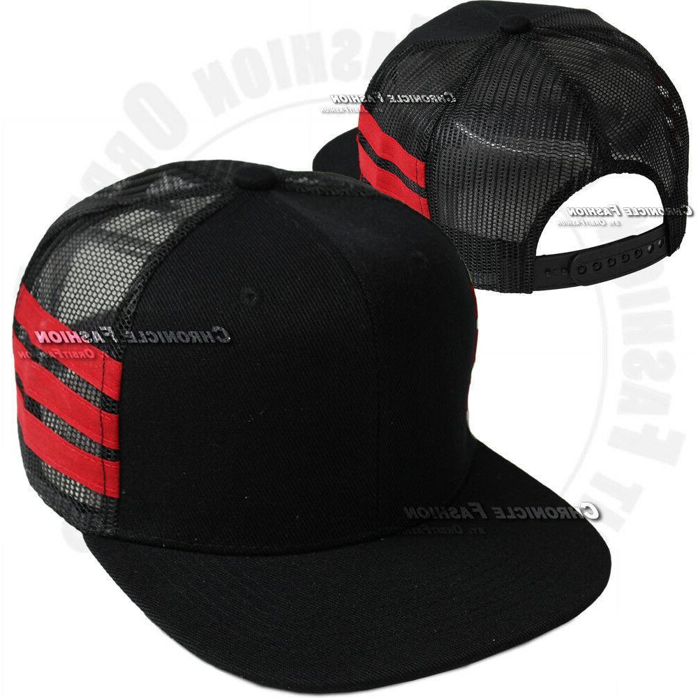 Trucker Cap Snapback Adjustable Hip Hop Plain Mens