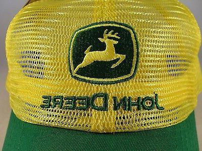 John Deere Trucker Snapback Hat Yellow Green