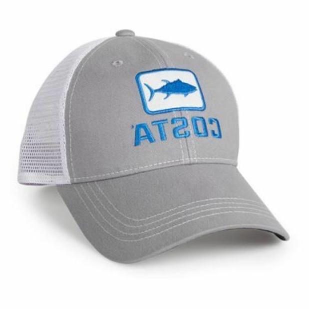 eb33383ab8915 Costa Del Mar Tuna Trucker Hat - Grey White