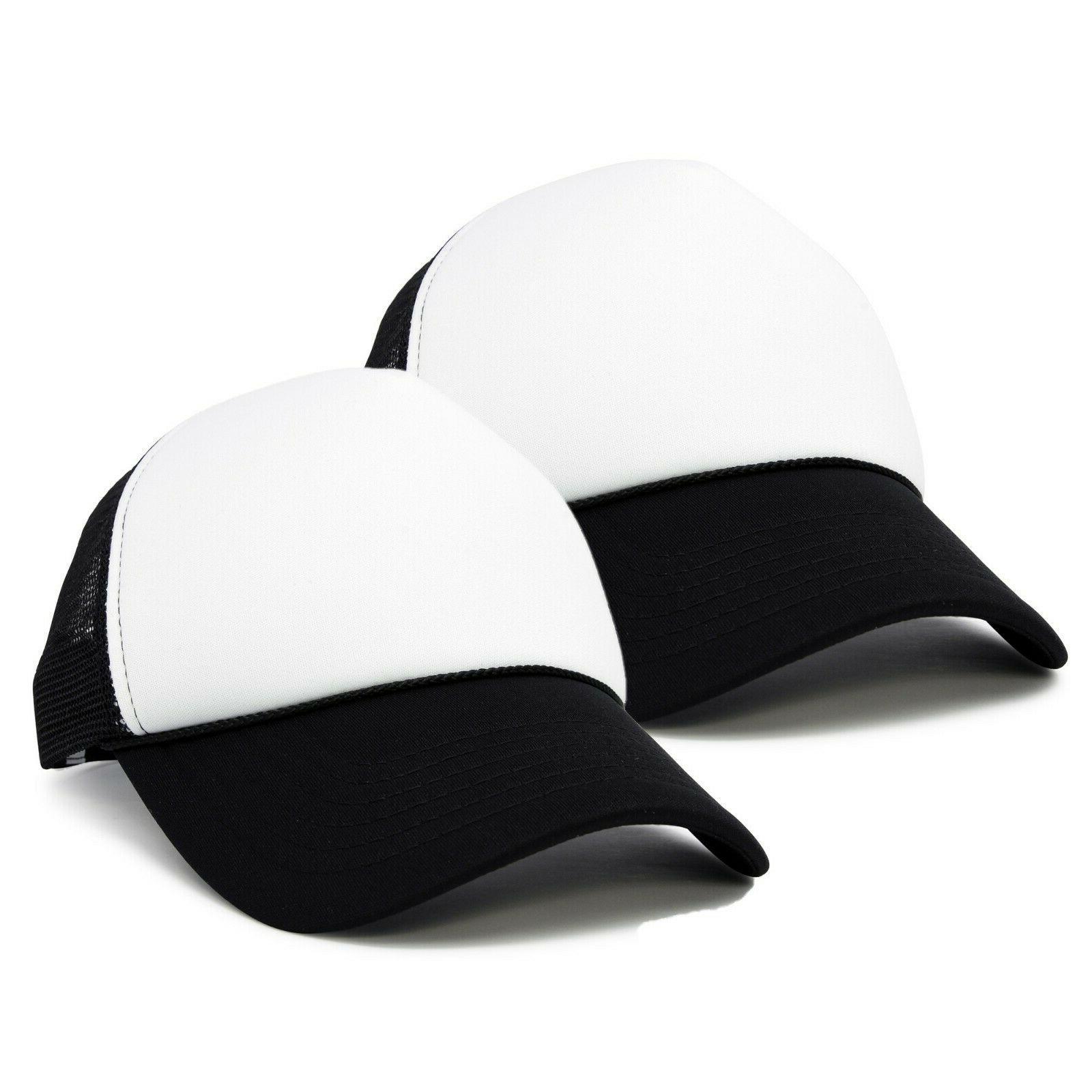 two tone blank trucker hats caps 2