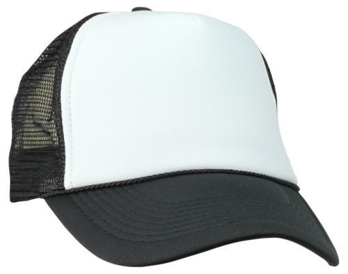 two tone summer mesh cap in black