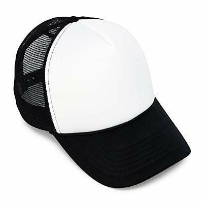 two tone summer mesh cap in black