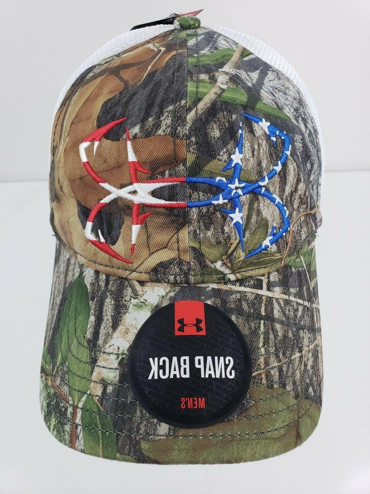 Under Armour UA Fish Hook Logo Mossy Oak Obsession Camo Mesh
