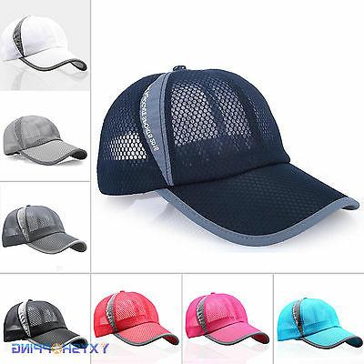 Men Womens Trucker Baseball Hat Sports Jogging Cap