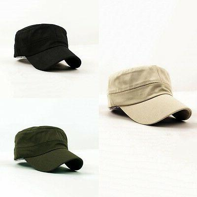 Unisex Mens Cadet Cap Army BLACK