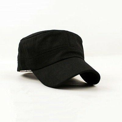 Unisex Cadet Cap Stretch fit Trucker BLACK