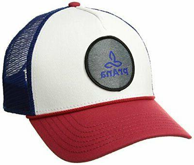unisex patch logo trucker red white blue