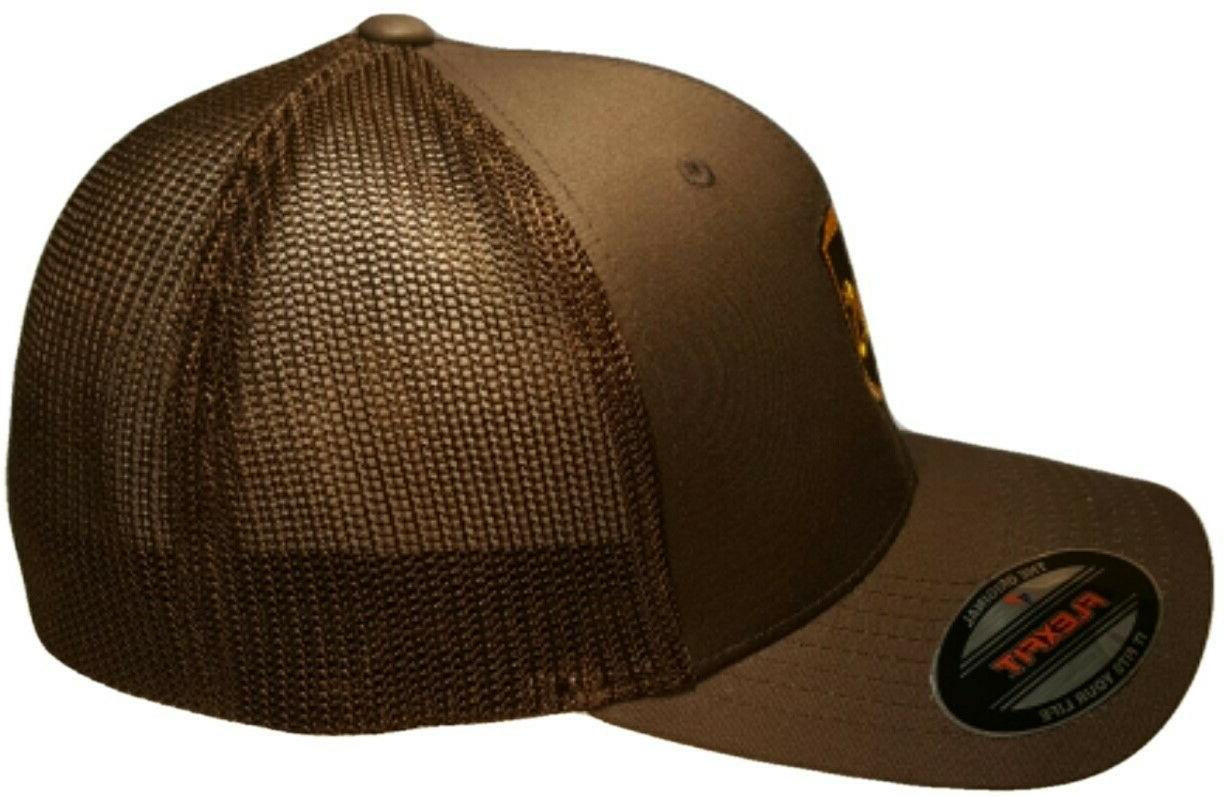 UPS FLEXFIT Style 6511 Trucker Front & of the