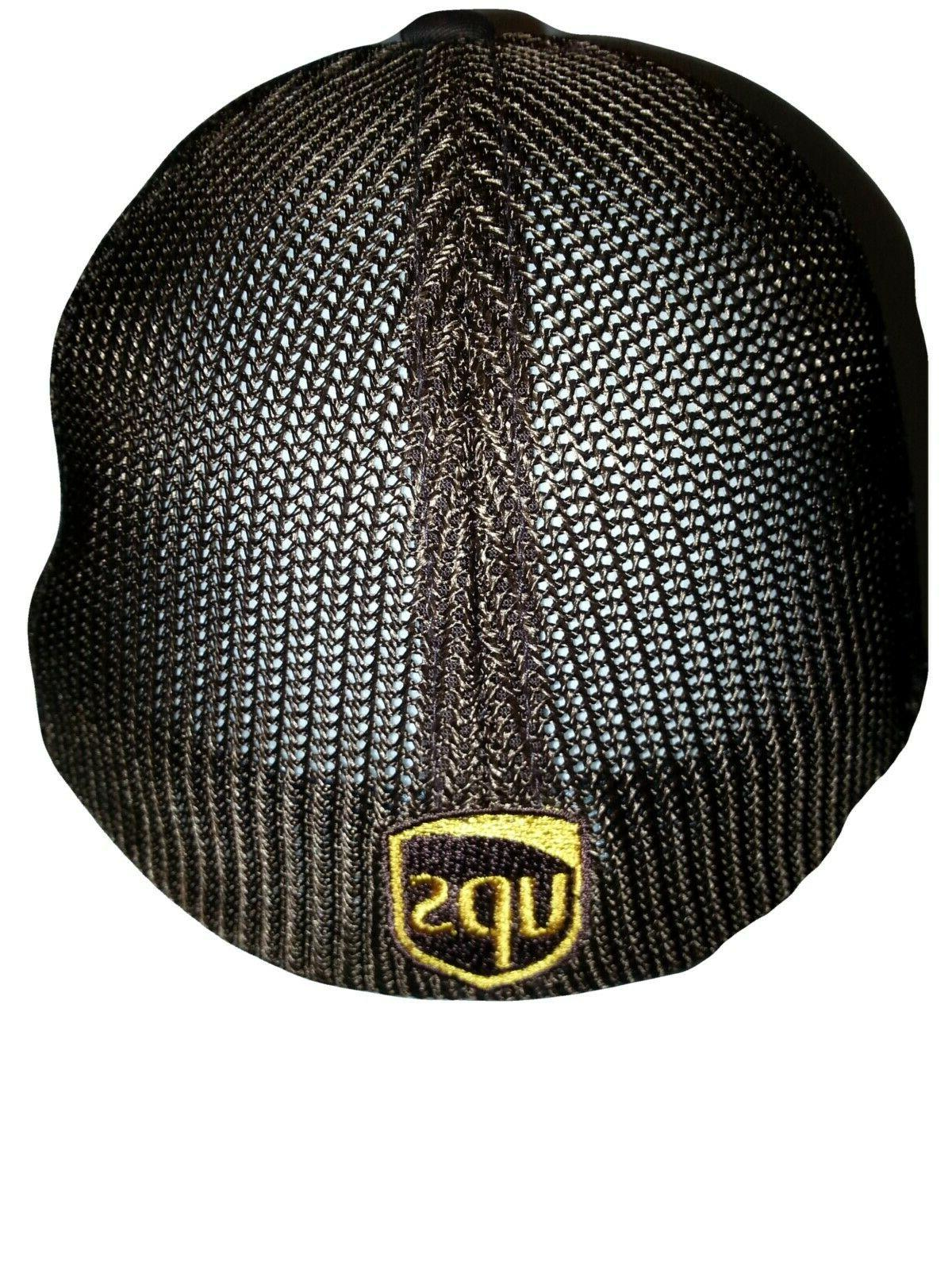 UPS FLEXFIT Style 6511 Trucker Embroidered Front & Back of the
