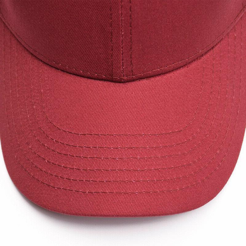 US Women Snapback Baseball Adjustable Messy High Buns Hats