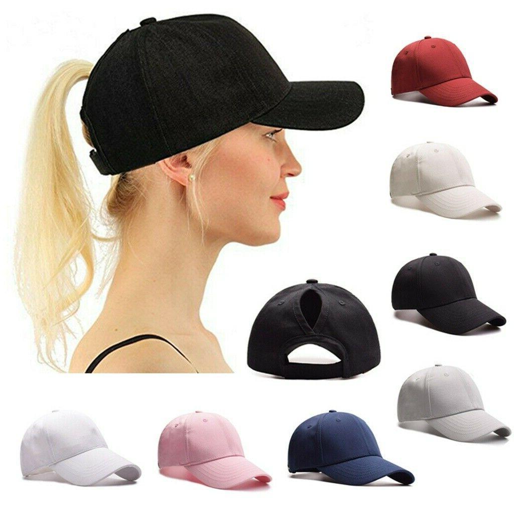 us women snapback ponytail baseball caps adjustable