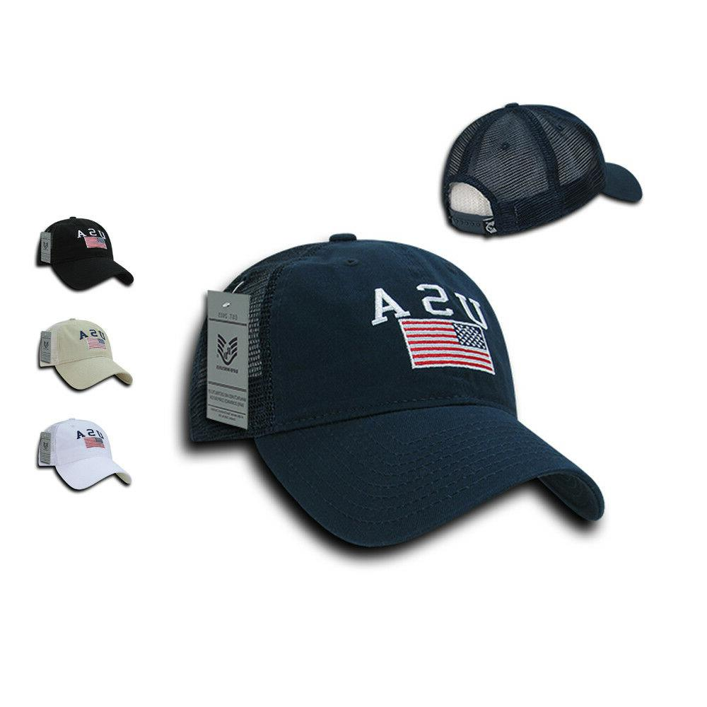 usa flag patriotic relaxed fit trucker cotton
