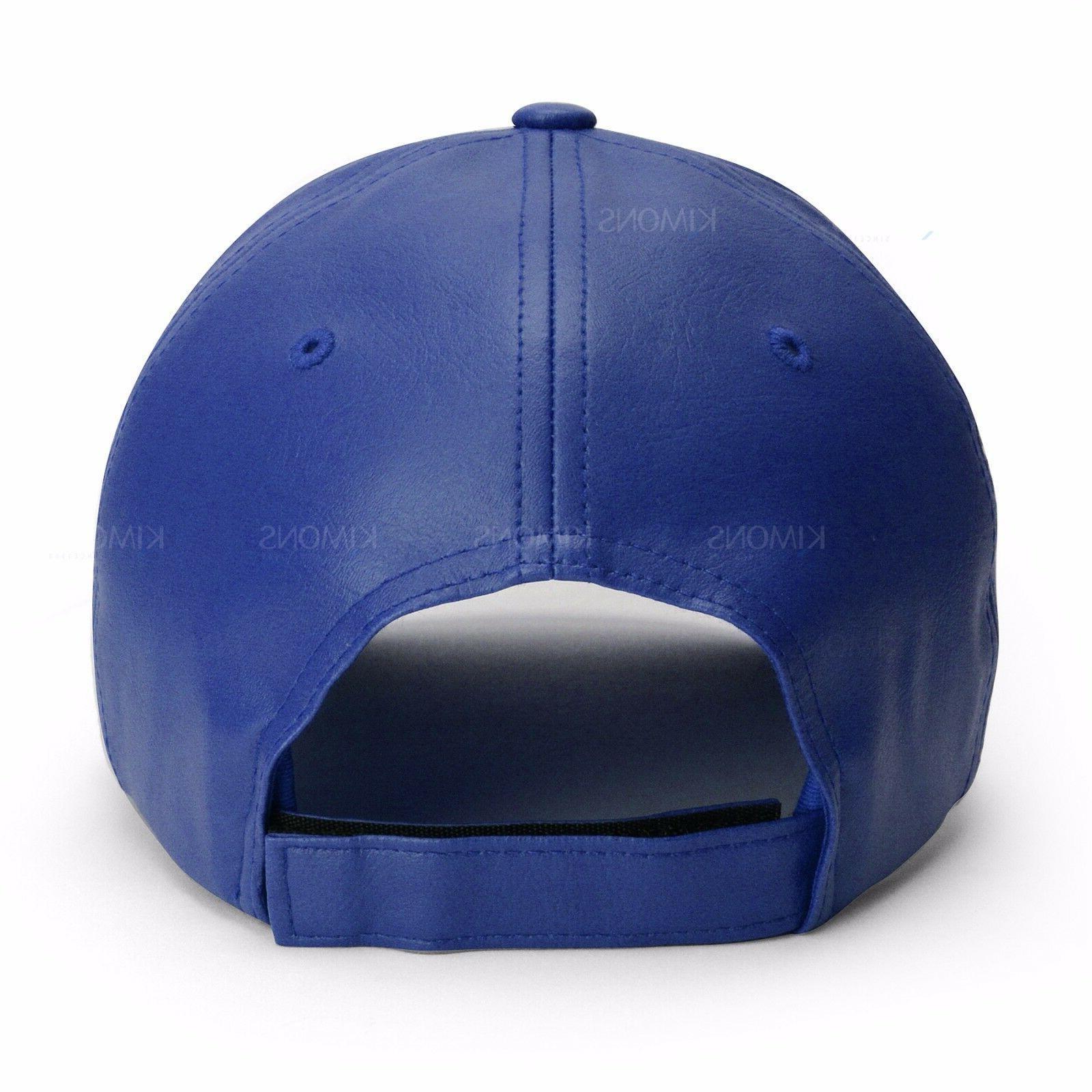 V-Adjustable Leather Classic Unisex Trucker Plain Blank Hat