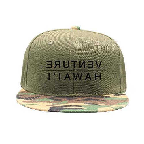 venture hawaiian flat camouflage trucker cap sun