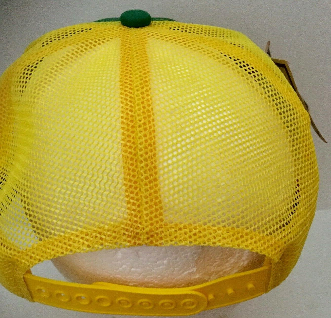 Vintage DEERE Yellow Hat Snapback Cap Products