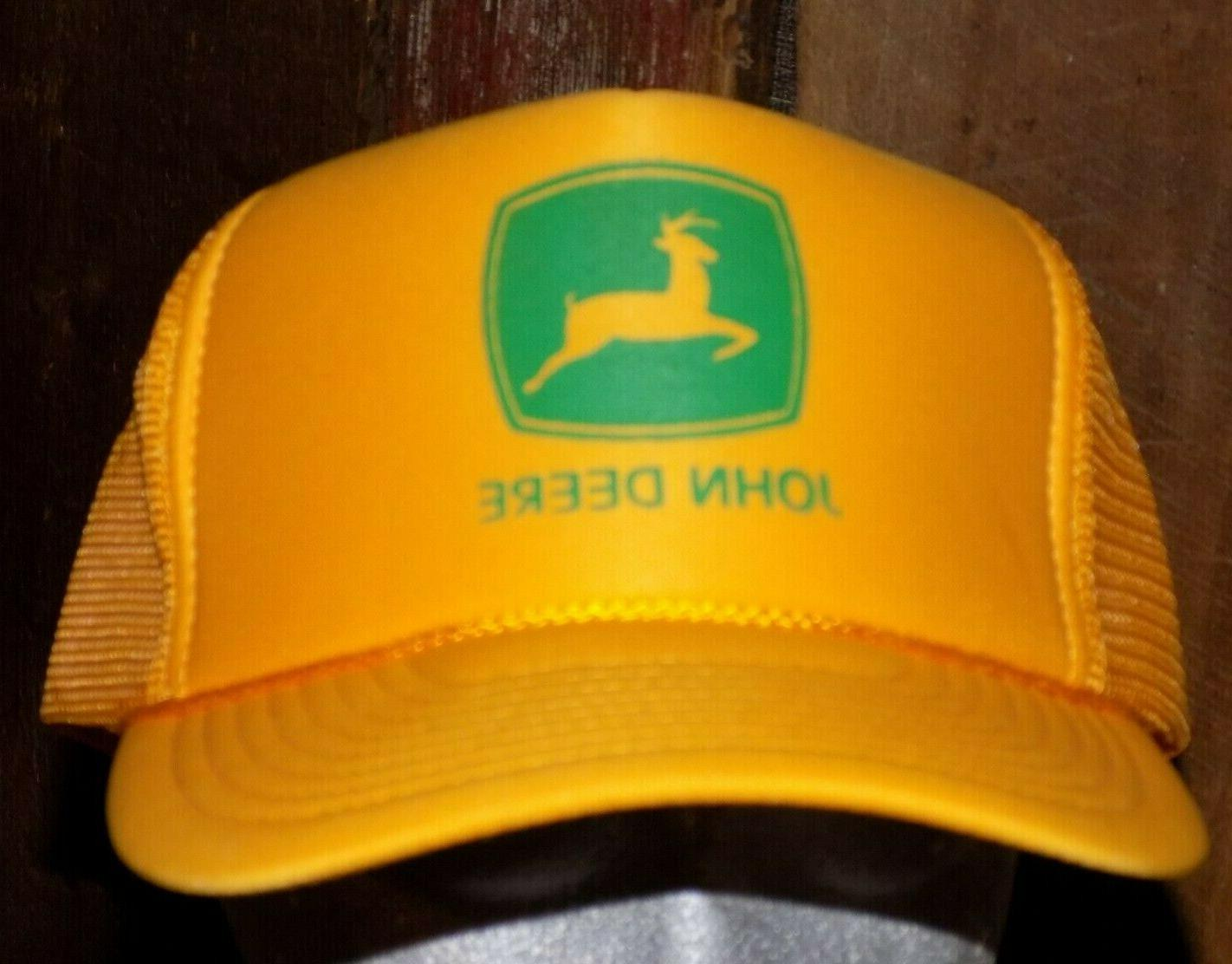 vintage john deere mesh trucker hat snapback